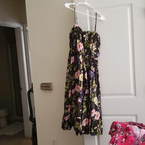 Express floral midi dress-size large